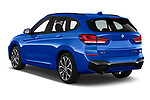 Car pictures of rear three quarter view of 2020 BMW X1 M-Sport 5 Door SUV Angular Rear