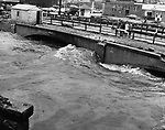 Park Street bridge during the flood.
