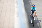 Astana-Premier Tech rider heads to sign on before Stage 20 of La Vuelta d'Espana 2021, running 202.2km from Sanxenxo to Mos, Spain. 4th September 2021.    <br /> Picture: Charly Lopez/Unipublic | Cyclefile<br /> <br /> All photos usage must carry mandatory copyright credit (© Cyclefile | Unipublic/Charly Lopez)
