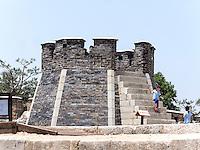 Armbrustplattform Seonodae der Festung von Suwon, Provinz Gyeonggi-do, Südkorea, Asien, Unesco-Weltkulturerbe<br /> crossbow tower Seonodae  inside fortress Hwaseong, Suwon, Province Gyeonggi-do, South Korea Asia, UNESCO World-heritage