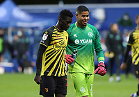 Seny Dieng of Queens Park Rangers and Ismaila Sarr of Watford during Queens Park Rangers vs Watford, Sky Bet EFL Championship Football at The Kiyan Prince Foundation Stadium on 21st November 2020