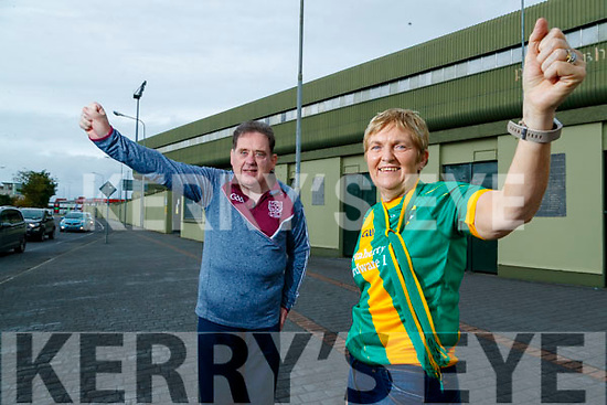 Tommy Cantillon from Causeway  Geraldine Collins from Kilmoyley looking forward to the conuty senior hurling final next Sunday.