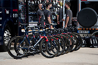 Team Ineos-Grenadier teambikes lined up before the stage start<br /> <br /> Stage 12 from Chauvigny to Sarran (218km)<br /> <br /> 107th Tour de France 2020 (2.UWT)<br /> (the 'postponed edition' held in september)<br /> <br /> ©kramon
