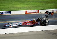 Oct. 19, 1997; Ennis, TX, USA; NHRA top fuel dragster driver Cory McClenathan during the Revell Nationals at the Texas Motorplex. Mandatory Credit: Mark J. Rebilas-
