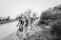 Jurgen Roelandts (BEL/BMC) trying to peer through the torrential rain<br /> <br /> 76th Paris-Nice 2018<br /> Stage 8: Nice > Nice (110km)