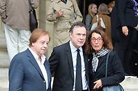 Daniel Lauclair et Julien Lepers - Hommage à Gonzague Saint Bris en l'église Saint-Sulpice à Paris, France - 28/9/2017