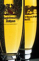 Europe/Allemagne/Forêt Noire/Rothaus : Auberge de la brasserie Rothaus - Verres de bière pils