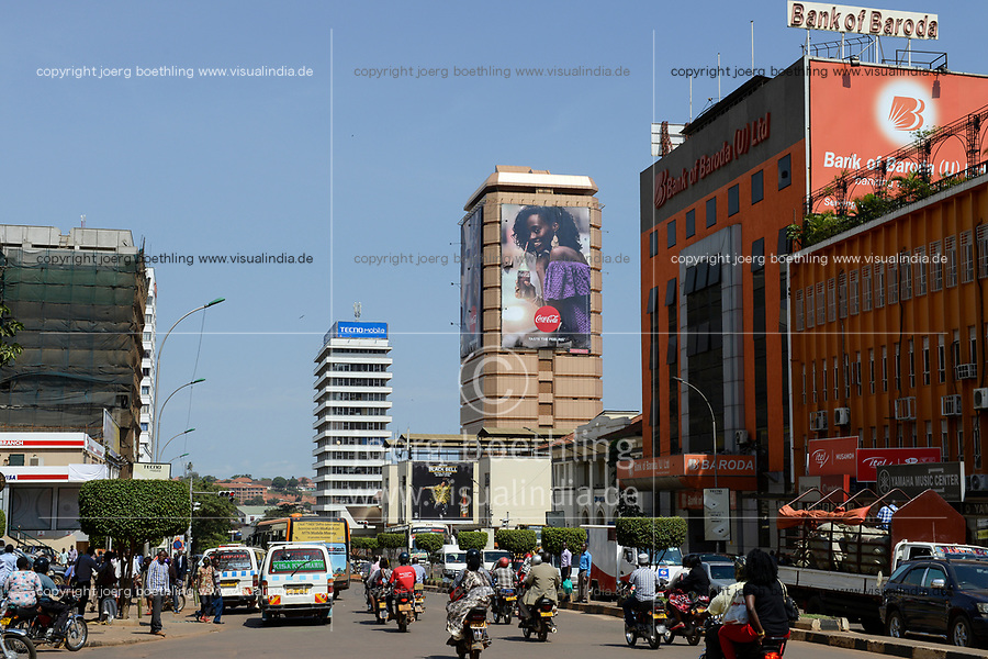UGANDA, Kampala, Bank of Baroda in Kampala Road in city center