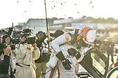 #7 Acura Team Penske Acura DPi, DPi: Helio Castroneves, Ricky Taylor celebrate after winning the Hyundai Monterey Sports Car Championship at WeatherTech Raceway Laguna Seca