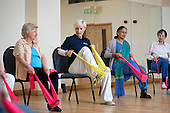 Chair-based exercise class, Swiss Cottage Community Centre.