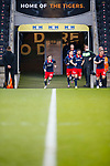Sunderland players don't wait for the Hull team to join them in the tunnel, before Kick off. Hull 2 Sunderland 2, League One 20th April 2021.
