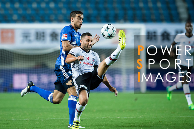 Besiktas Istambul Defender Dusko Tosic (R) fights for the ball with FC Schalke Forward Franco Di Santo (L) during the Friendly Football Matches Summer 2017 between FC Schalke 04 Vs Besiktas Istanbul at Zhuhai Sport Center Stadium on July 19, 2017 in Zhuhai, China. Photo by Marcio Rodrigo Machado / Power Sport Images
