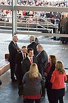 The Welsh rugby team celebrate winning the Grand Slam in the Six Nations rugby tournament at The Senydd in Cardiff Bay..Captain Sam Warburton at the drinks reception.