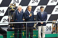 JACKY ICKX (BEL) PIERRE FILLON (ACO PRESIDENT) DAVID RICHARDS PRESIDENT OF ASTON MARTN)