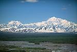 View of Denali and Mt. Foraker, Denali National Park, Alaska, USA