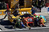 2017 NASCAR Monster Energy Cup Series - Daytona 500<br /> Daytona International Speedway, Daytona Beach, FL USA<br /> Sunday 26 February 2017<br /> Kyle Busch, M&M's Toyota Camry pit stop<br /> World Copyright: Nigel Kinrade/LAT Images<br /> <br /> ref: Digital Image 17DAY2nk14414
