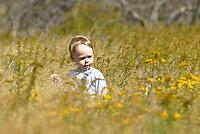 smile child flowers happy family