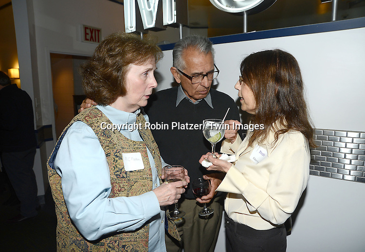 MC Marden, Ron Arias and Eileen Sweet at the  People Magazine Employees Reunion on April 26, 2013 at Burger Heaven at 804  Lexington Avenue in New York City.