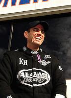 Nov. 13, 2011; Pomona, CA, USA; NHRA top fuel dragster driver Larry Dixon during the Auto Club Finals at Auto Club Raceway at Pomona. Mandatory Credit: Mark J. Rebilas-.