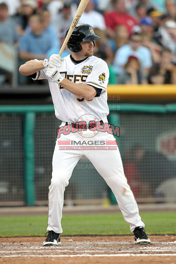 Jeff Baisley #35 of the Salt Lake Bees plays for the Pacific Coast League All-Stars in the annual Triple-A All-Star Game against the International League All-Stars at Spring Mobile Ballpark on July 13, 2011  in Salt Lake City, Utah. The International League won the game, 3-0. Bill Mitchell/Four Seam Images.