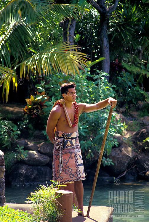 Hula and Hawaiian practices at the polynesian cultural center, north shore of oahu.