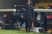 Andrea Pirlo coach of Juventus FC gestures during the Serie A football match between Benevento Calcio and Juventus FC at stadio Ciro Vigorito in Benevento (Italy), November 28th, 2020. <br /> Photo Cesare Purini / Insidefoto