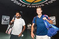 ABN AMRO World Tennis Tournament, Rotterdam, The Netherlands, 14 februari, 2017, Rohan Bopanna (IND), Tomas Berdych (CZE)<br /> Photo: Henk Koster
