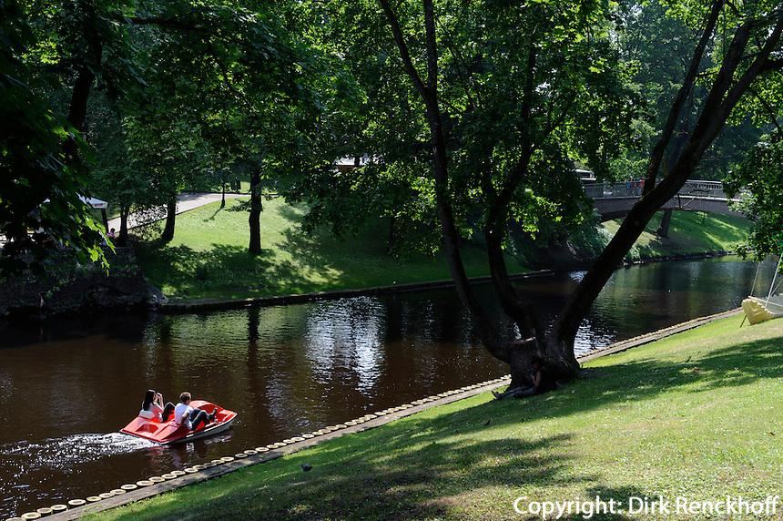 Park am Pilsetas Kanals  in Riga, Lettland, Europa