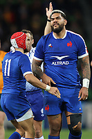 13th July 2021; AAMI Park, Melbourne, Victoria, Australia; International test rugby, Australia versus France; France players celebrate their win by 26-29 points