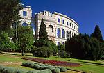 Kroatien, Istrien, Pula: Amphitheater erbaut unter Kaiser Vespasian | Croatia, Istria, Pula: Amphitheatre
