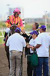 Force Freeze with jockey Paco Lopez and connections after winning the Gulfstream Park Sprint Championship(G2). Gulfstream Park, Hallandale Beach Florida.