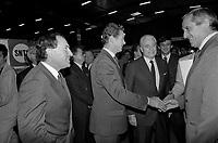 Le 10 Octobre 1987. Vue de Dominique Baudis, Jacques Chaban-Delmas et de Jacques Blanc lors d'une visite.<br /> <br /> Jacques Chaban-Delmas, souvent surnommé « Chaban », né Jacques Delmasa le 7 mars 1915 à Paris 13e et mort le 10 novembre 2000 à Paris 7e, est un résistant, général de brigade et homme d'État français.<br /> <br /> Considéré comme l'un des « barons du gaullisme », il est notamment maire de Bordeaux de 1947 à 1995, ministre sous la IVe République et président de l'Assemblée nationale à trois reprises entre 1958 et 1988.<br /> <br /> Premier ministre de 1969 à 1972, sous la présidence de Georges Pompidou,