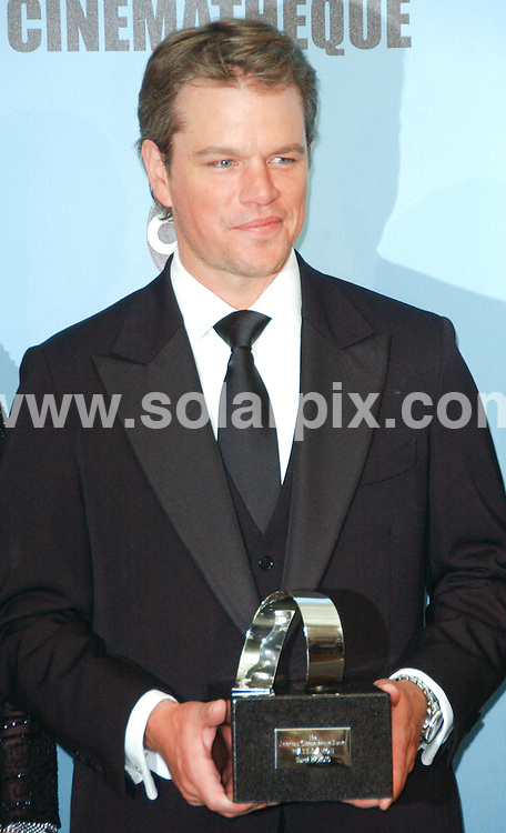 **ALL ROUND PICTURES FROM SOLARPIX.COM**.**SYNDICATION RIGHTS FOR UK, AUSTRALIA, DENMARK, PORTUGAL, S. AFRICA, SPAIN & DUBAI.The 24th Annual American Cinematheque Award Honoring Matt Damon - Arrivals, The Beverly Hilton Hotel / Beverly Hills, CA. USA, 28 March 2010.This pic: Matt Damon.JOB REF: 10999  PHZ ortega DATE: 28_03_2010.**MUST CREDIT SOLARPIX.COM OR DOUBLE FEE WILL BE CHARGED**.**MUST NOTIFY SOLARPIX OF ONLINE USAGE**.**CALL US ON: +34 952 811 768 or LOW RATE FROM UK 0844 617 7637**