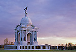 The Pennsylvania Memorial at Gettysburg National Military Park Pennsylvania, USA. Largest memorial in the park. The Battle of Gettysburg took place on July 1, 2 & 3, 1863.