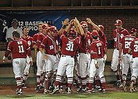 Oklahoma defeated Appalachian State for the NCAA regional Championship June 4, 2012 at Davenport Field in Charlottesville, Va. Photo/Andrew Shurtleff .