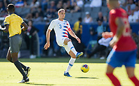 CARSON, CA - FEBRUARY 1: Aaron Long #3 of the United States moves to the ball during a game between Costa Rica and USMNT at Dignity Health Sports Park on February 1, 2020 in Carson, California.