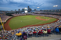 A general view of TD Ameritrade Park during Game 4 of the 2013 Men's College World Series between the LSU Tigers and UCLA Bruins on June 16, 2013 in Omaha, Nebraska. The Bruins defeated the Tigers 2-1. (Brace Hemmelgarn/Four Seam Images)