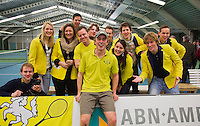 19-01-13, Tennis, Rotterdam, Wildcard for qualification ABNAMROWTT, Bjorn Klaassen met fanclub