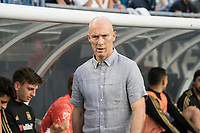 FOXBOROUGH, MA - AUGUST 3: Bob Bradley of Los Angeles FC during a game between Los Angeles FC and New England Revolution at Gillette Stadium on August 3, 2019 in Foxborough, Massachusetts.