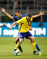Soccer Football - 2018 World Cup Qualifications - Europe - Italy vs Sweden - San Siro, Milan, Italy - November 13, 2017 <br /> Italy's Giorgio Chiellini (l) in action with Sweden's Marcus Berg (r) during the the FIFA World Cup 2018 qualification football match between Italy and Sweden at the San Siro Stadium in Milan on November 13, 2017.<br /> UPDATE IMAGES PRESS/Isabella Bonotto
