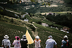 Fans waiting for the race to pass during Stage 8 of the 2019 Tour de France running 200km from Macon to Saint-Etienne, France. 13th July 2019.<br /> Picture: ASO/Pauline Ballet   Cyclefile<br /> All photos usage must carry mandatory copyright credit (© Cyclefile   ASO/Pauline Ballet)