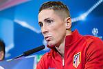 Atletico de Madrid's Fernando Torres during the press conference before the match of UEFA Champions League between Atletico de Madrid and FC Rostov, at Vicente Calderon Stadium,  Madrid, Spain. October 31, 2016. (ALTERPHOTOS/Rodrigo Jimenez)