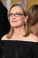 LOS ANGELES, CA - JANUARY 18: Meryl Streep at the 20th Annual Screen Actors Guild Awards held at The Shrine Auditorium on January 18, 2014 in Los Angeles, California. (Photo by Xavier Collin/Celebrity Monitor)