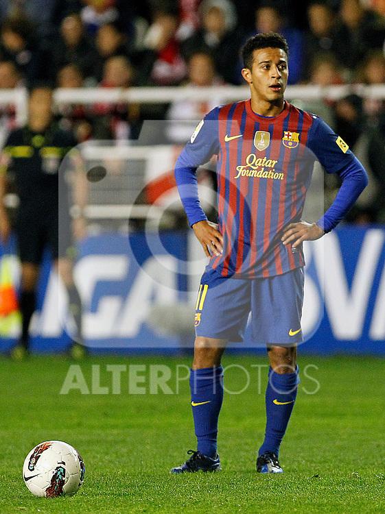 FC Barcelona's Thiago Alcantara during La Liga match.April 29,2012. (ALTERPHOTOS/Acero)