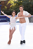 """Max Evans and Ale Izquierdo<br /> at the """"Dancing on Ice"""" launch photocall, natural History Museum, London<br /> <br /> <br /> ©Ash Knotek  D3365  19/12/2017"""