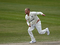 16th April 2021; Emirates Old Trafford, Manchester, Lancashire, England; English County Cricket, Lancashire versus Northants; Matt Parkinson of Lancashire bowling
