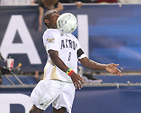 Kofi Sarkodie #8 of the University of Akron during the 2010 College Cup semi-final against the University of Michigan at Harder Stadium, on December 10 2010, in Santa Barbara, California. Akron won 2-1.