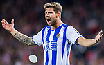Inigo Martinez Berridi of Real Sociedad reacts during their La Liga match between Atletico de Madrid vs Real Sociedad at the Vicente Calderon Stadium on 04 April 2017 in Madrid, Spain. Photo by Diego Gonzalez Souto / Power Sport Images