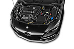 Car stock 2014 Mercedes Benz CLA Class 45 AMG 4 Door Sedan engine high angle detail view