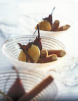 """Europe/France/Rhône-Alpes/73/Savoie/Courchevel 1850: Restaurant """"Le Chabichou"""" - Glace à la réglisse et rissole de poire au pineau de Savoie - Recette de M. Rochedy"""